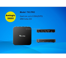 Hight speed download Android TV box TX3 Pro with H.265 4k and KODI OTT android tv box