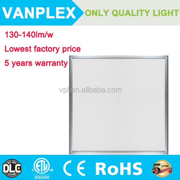 Top quality dimmable 130-140lm/w led flat panel lighting 2x2 600x600
