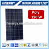 130w 135w 140w 160w 165w color 150w cheap price 150w poly solar panel for solar home system