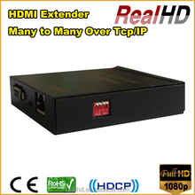 RealHD 16x16 HDMI Video Matrix splitter and switcher extender 120m over IP+Rs232+IR remote control