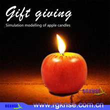 2017 rgknse Christmas Red Scented Apple Candles Artificial Apple Shape Scented Fruit Candles Creative Romantic Christmas Birthda