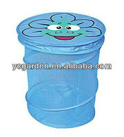 mesh pop up dirty laundry cartoon bag ,PE laundry bag, nelon laundry bag