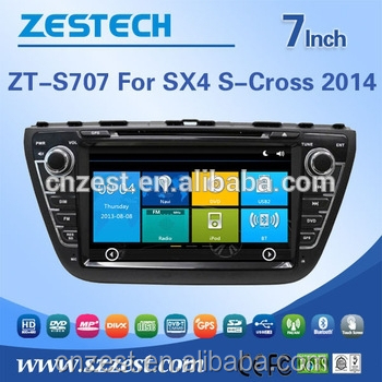 2din car dvd player for SUZUKI SX4 S-CROSS 2014 car accessories with rearview camera