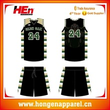 Hongen apparel American Chicago basketball league uniform design Round neck basketball jersey