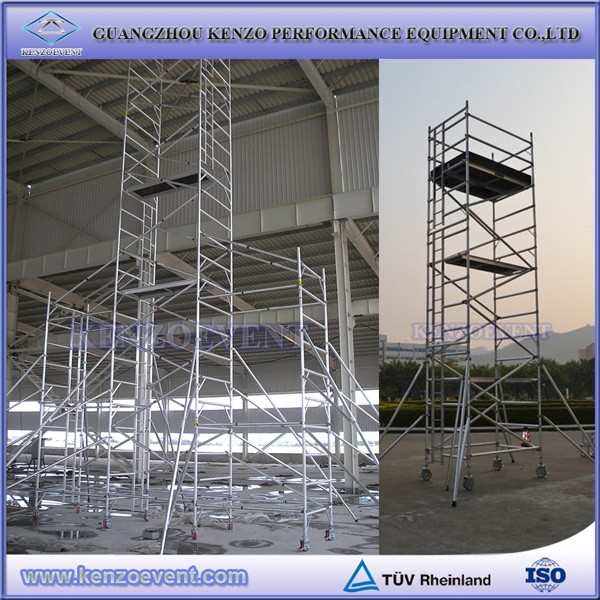 Used Aluminum Scaffolding : Aluminum folding scaffolding with wheels buy