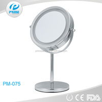 Custom double side magnifying makeup standing desktop mirror with lighted