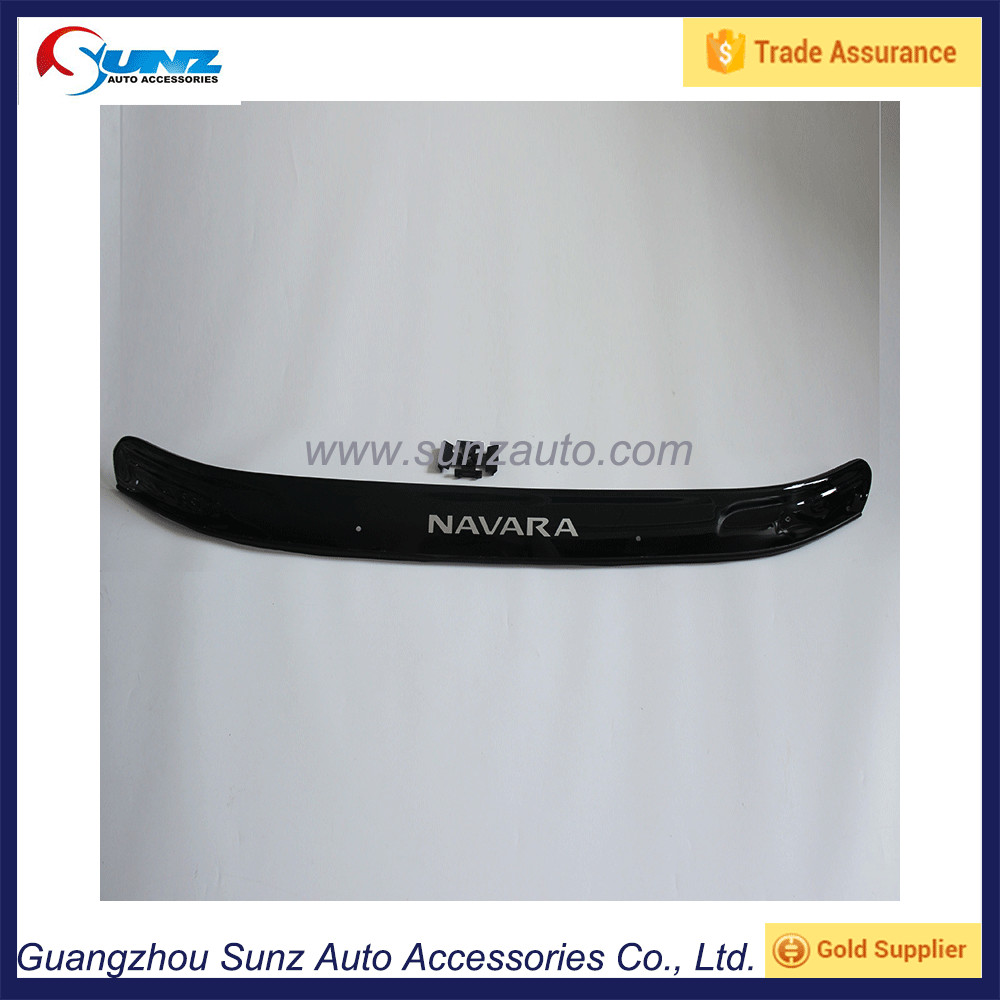 2015 Navara NP300 D23 Acrylic Plastic Black Color Bonnet Guard 4x4 Pickup Bonnet Protector Truck Car Accessories