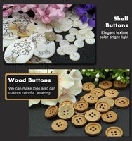 25mm Plastic Snap Button / Metal Snap Jeans Button/ Wooden Cover Buttons