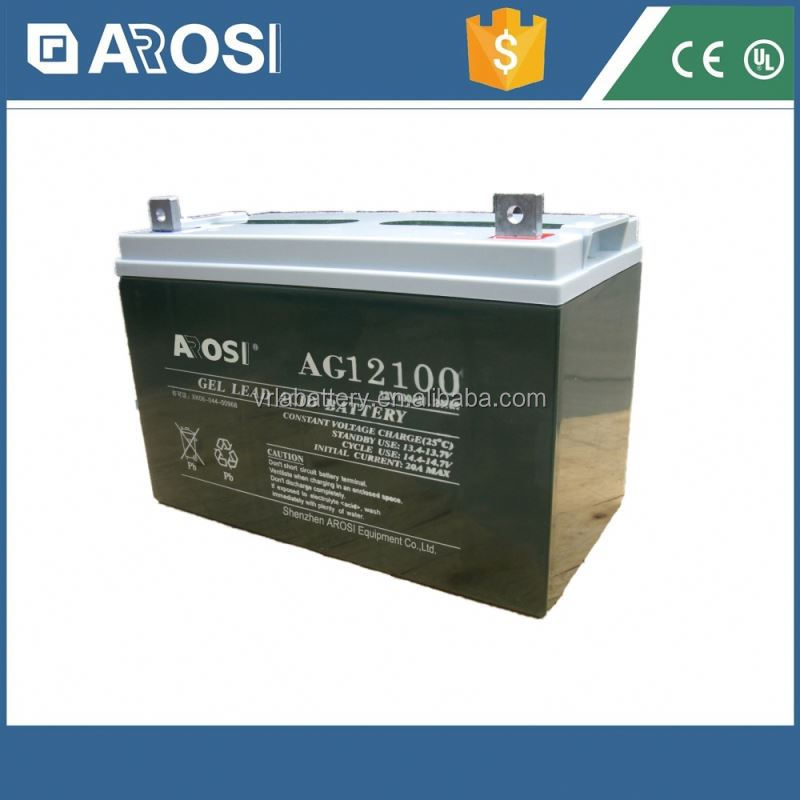 Arosi best price 12v 100ah solar battery reconditioned battery