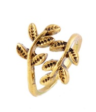 Vintage Gold Changeable Cuff Rings Tree Of Life Nail Jewelry