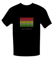 colorful equalizer el t-shirt Free Shipping Wholesale 2015 New EL Sound-active T-shirts