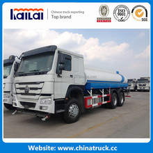 Sinotruk 20000 Liters HOWO 6x4 water tank truck with bowser for sale