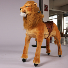(EN71&ASTM&CE)~(Pass!!)~Port Dalian newest mechanical horse,riding horse toy on cycle,ride on horse for kids,King of Lion Simba
