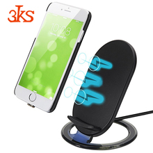 New fast wireless charging stand vertical qi standard mobile phone wireless charger