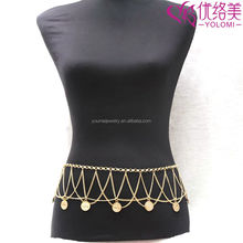 Gold Waist Chain Belly Ring Body Chain Body Chain Jewelry YMWC-2921