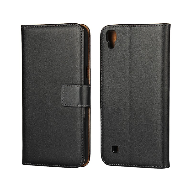 Smart Phone Leather Pouch Bag Book Flip Phone Wallet Case Cover for LG X Power K220 with Card Holder