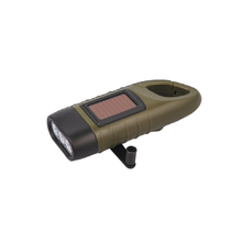 Hotsell good quality mini solar hand crank flashlight for outdoors and mountaineering
