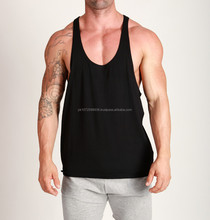 Bodybuilding Gym Racerback Y-Back Stringer Singlet/Men's Cotton Stringer Tank Top