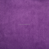 Purple fine strip Cation velvet polyester fabric warp knitting for garment cloth