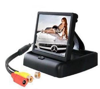 "4.3"" rear view TFT LCD monitor with stand and 2 video in"
