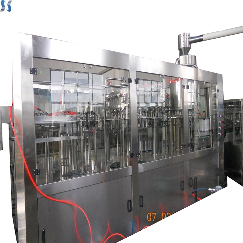 new washing filling capping 3 in 1 unit alcohol drink processing line