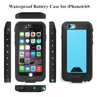 Power Bank Waterproof Phone Case for iPhone6 6S Battery Charger for Apple iPhone