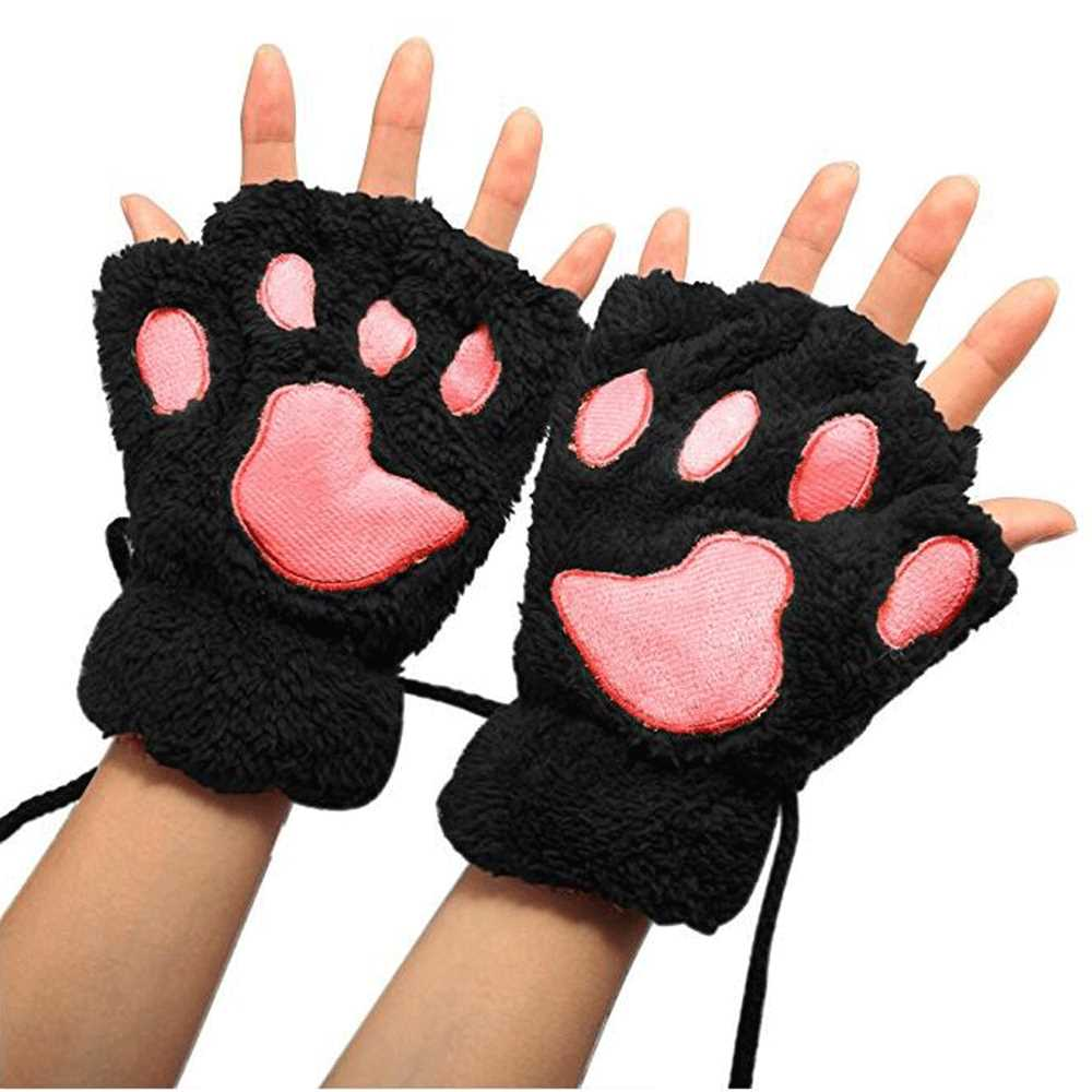 hot new products various animals bear paw plush gloves