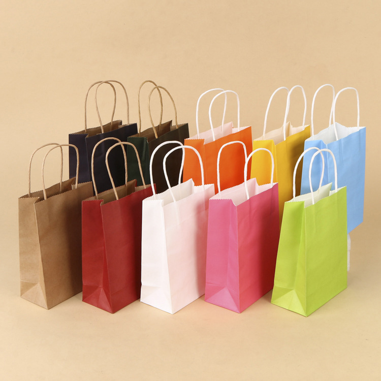 Hot Sale Colorful Rectangular Flat Recyclable Kraft Paper Gift <strong>Bags</strong>