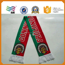 Acrylic knitted football scarf