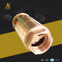 NPT BSPT Thread check 1inch brass foot valve used for Liquids
