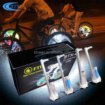 LED Bicycle Bike Programmable Wheel Flashlight Double-Side Display Bicycle Wheel Light