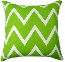100%Cotton Village Green Chevron Striped Accent Decorative Throw Pillow Cushions Fashion Pillowcase Popular Cushion Cover