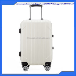 "White color travel bag Suitable Carry-On luggage Type 24"" Aluminum alloy luggage"