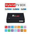 New android tv box combo dvb-s2 dvb-t2 dvb-c 4k satellite receiver android tv box 2gb ram 16gb rom k2 pro 4k satellite receiver
