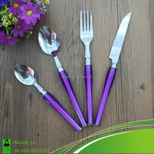 Chinese Manufature Cutlery with Colorized Plastic Handle