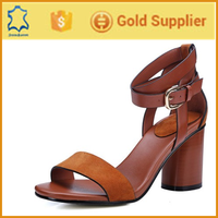 New arrival genius leather ladis sandal design high heel shoes women