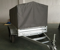 Haokai 8x5 Tandem/Dual-Axle Cage Trailer with cover