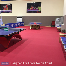 Certificated PVC Commercial Table Tennis Court Flooring