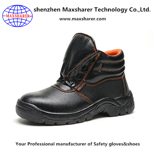 high quality western steel toe cap construction safety boots leather safety shoes and boots