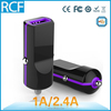 RCF mini car charger, 2.4A usb car charger