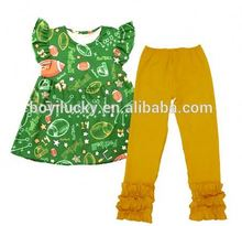 childrens boutique clothing set baby girls rugbby clothing set toddler girl's clothing set for fall