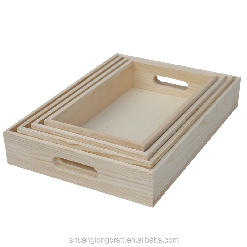 2015 year china suppliers customized unfinished wooden kitchen food tray for cheap wholesale