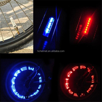 2015 Double-side colorful LED Flash Tyre Wheel Valve Cap Light for Car Bike bicyclen Wheel Light Tire Light Letter Change