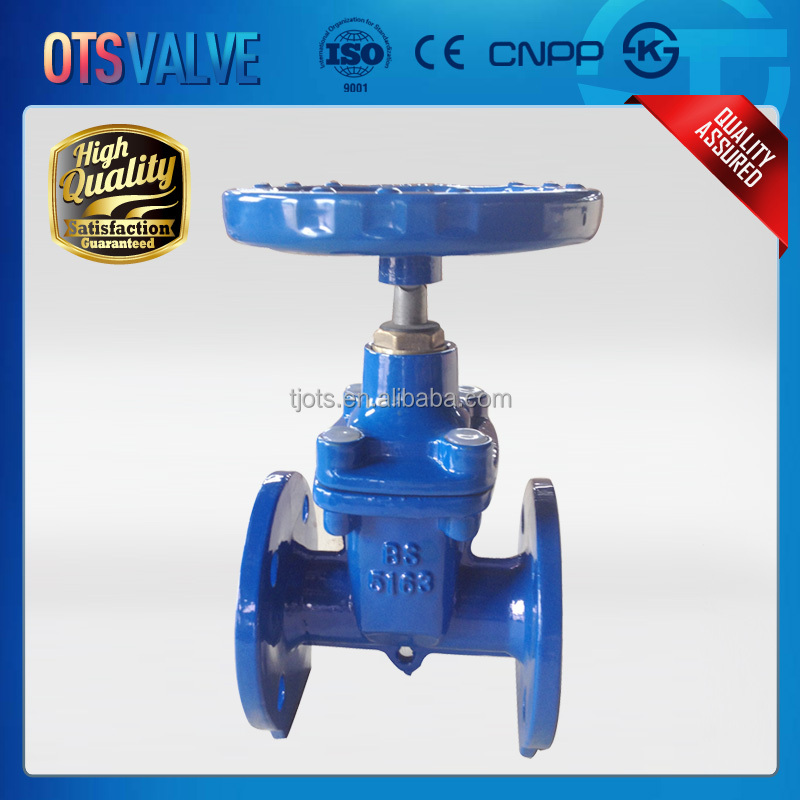 Cast iron metal sealed non rising stem marine/industry gate valves