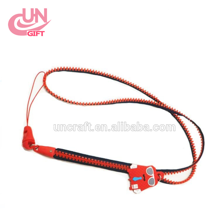 Wholesale Colorful Zipper Cell Phone Lanyard with Custom Accessories