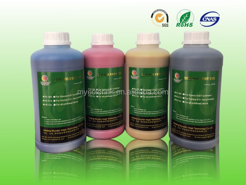 1L Package CMYK eco-solvent ink for epson dx5