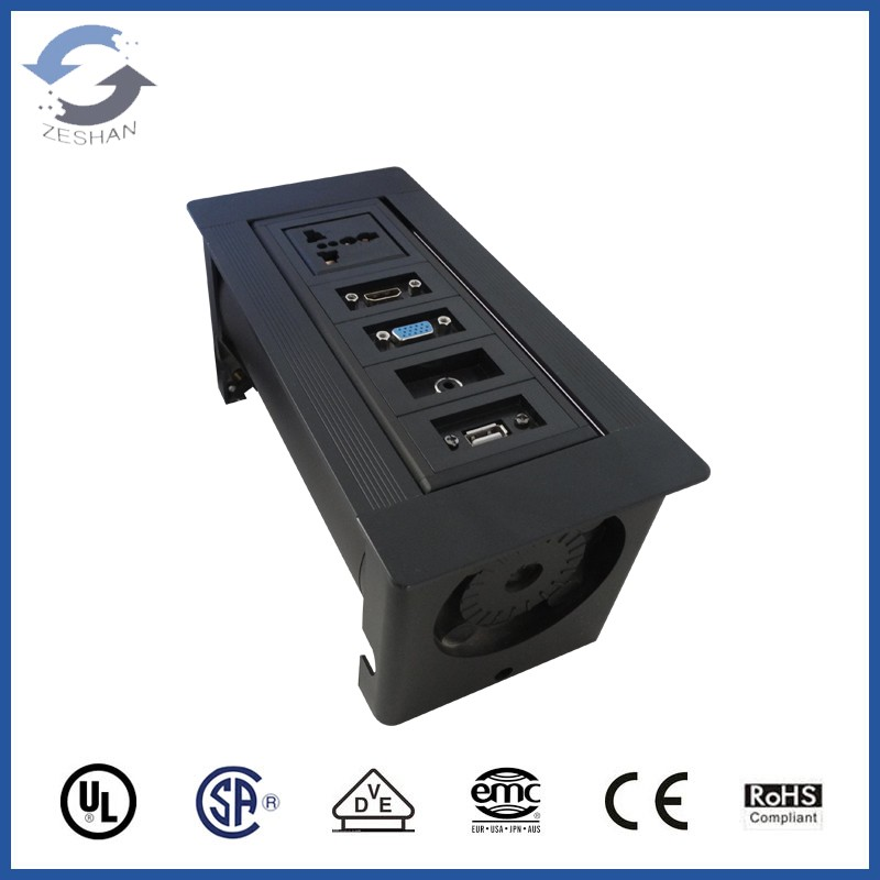 ZSPM-3 Black Manual Socket with Universal power and USB