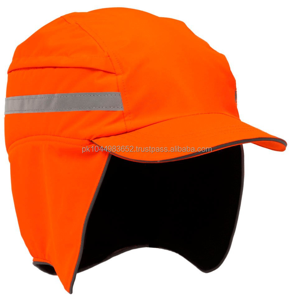 Florescent Orange cap with ear flap