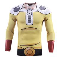 3D Cosplay Printing t-shirt Long Sleeves / OEM Your Design 3d t-shirt