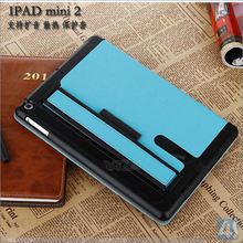 New multifunction high quality vintage luxury leather flip case for ipad mini 2/3